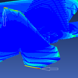E-Field Plot for Aircraft P-Static Simulation